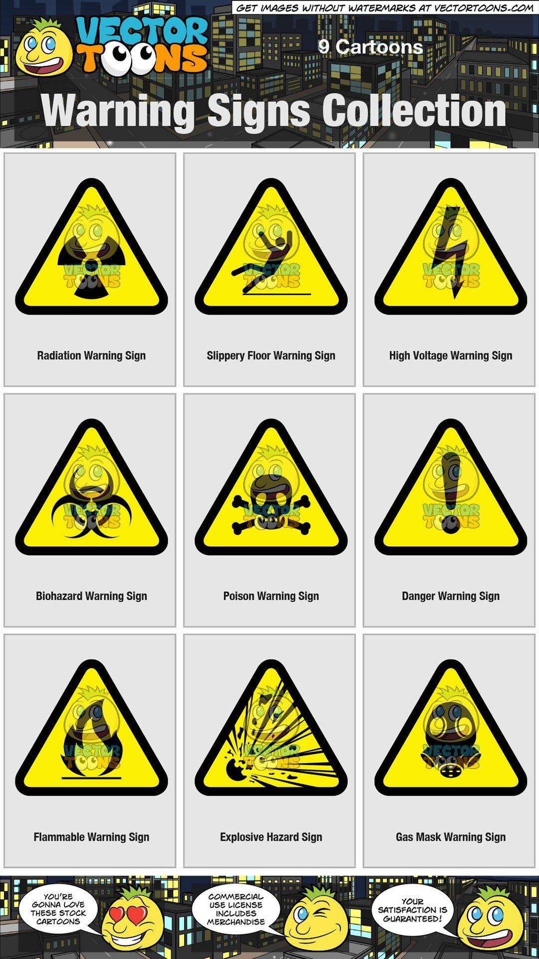Warning Signs Collection Hazard Sign Warning Signs Signs
