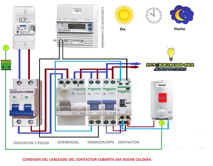Diagrama de conexion motor 220v con protector buscar con - Cuadro electrico domestico ...