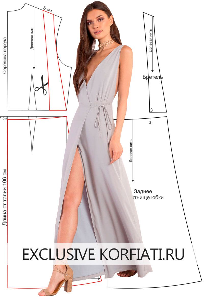 1470ee306811dab Выкройка платья с V-образным вырезом - идеальное решение! Моделирование  выкройки платья с V-образным вырезом. Платье выполнено из тонкого крепа  нежного ...