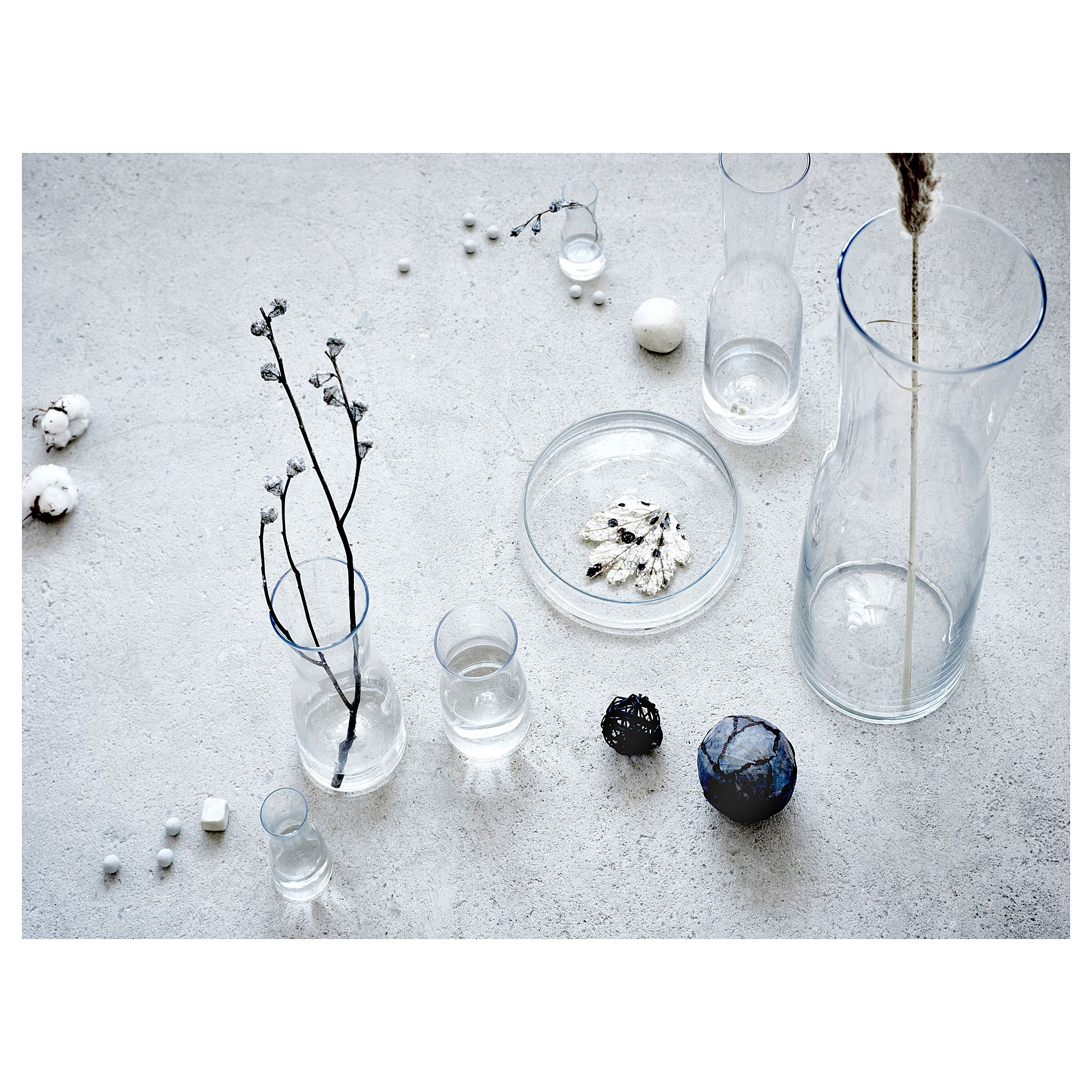 vase tidvatten verre transparent les indispensables. Black Bedroom Furniture Sets. Home Design Ideas