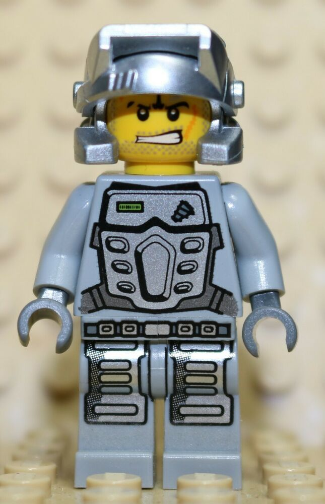 Gray Outfit Power Miner MINI FIG // MINI FIGURE Rex LEGO 8188