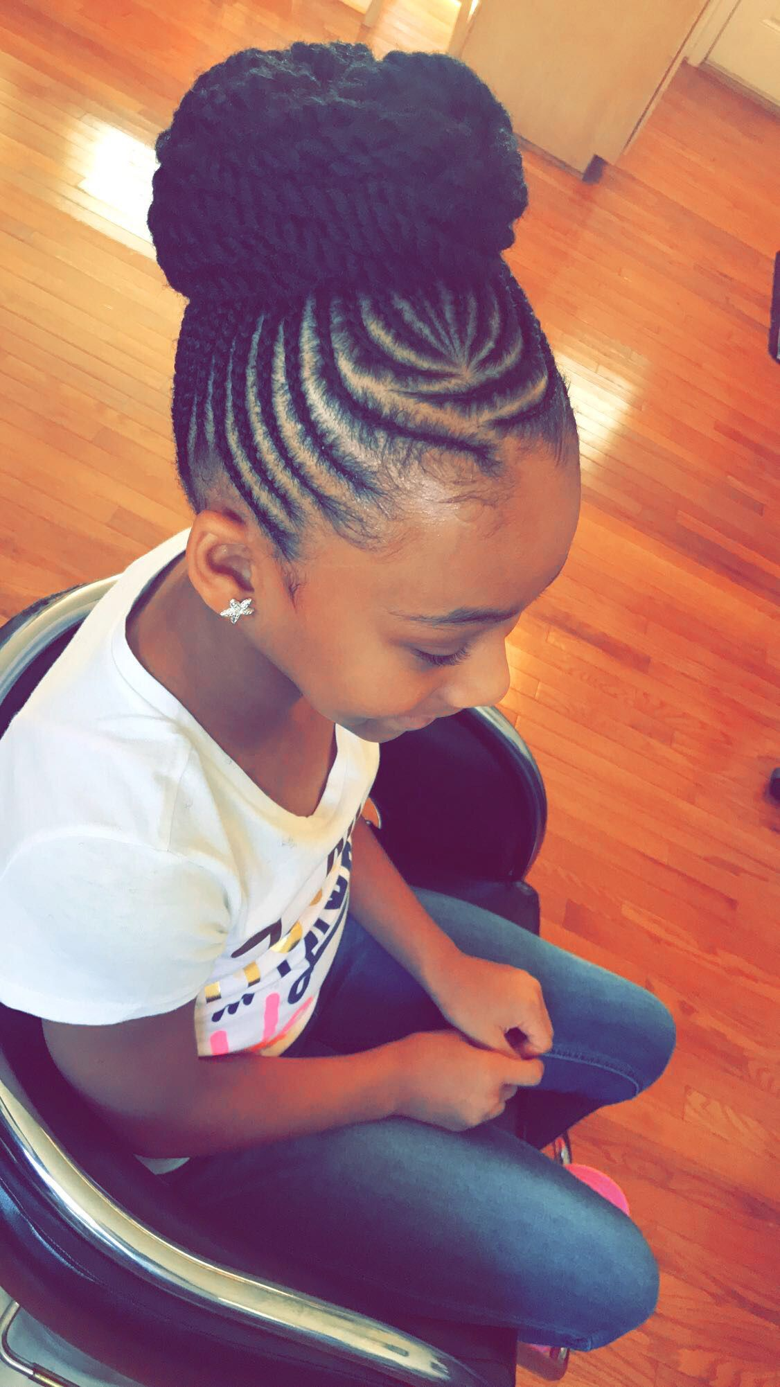 Cute Updo Natural Hairstyles For Kids Cornrow Styles For Girls