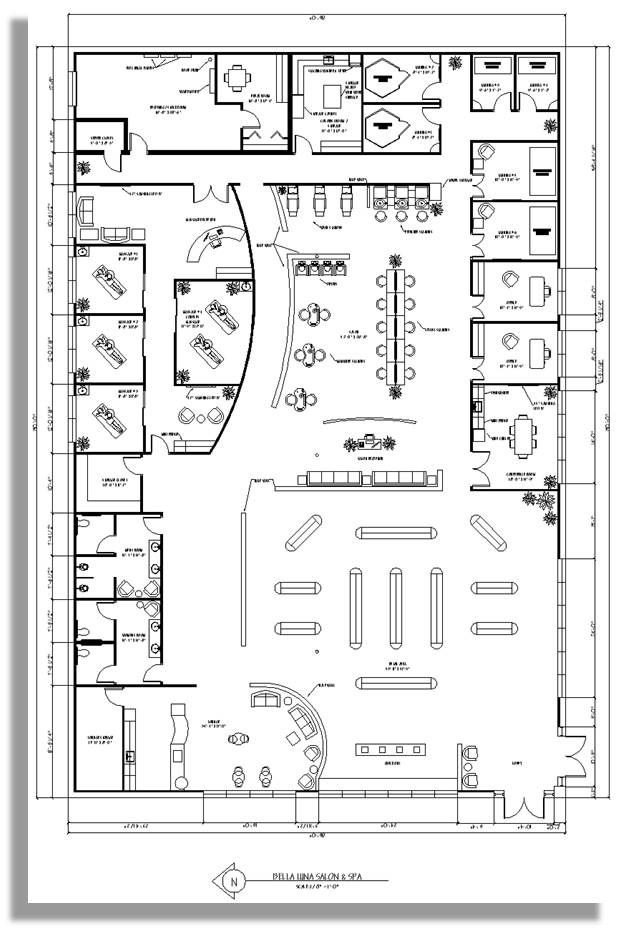 Spa floor plan business decor pinterest spa salons for Hotel design layout