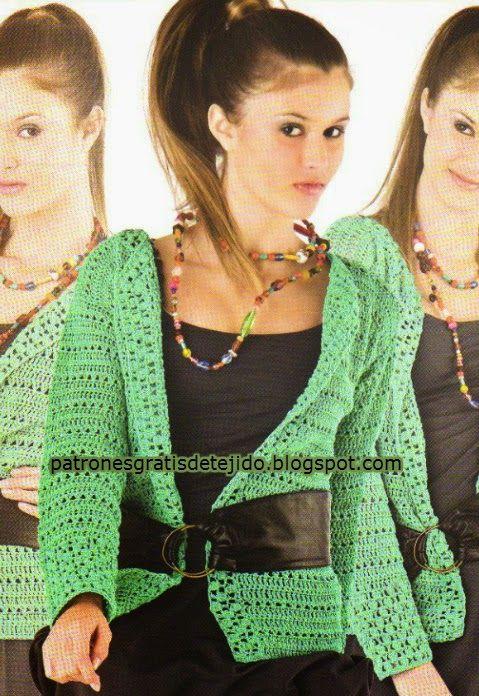 Patrones crochet de saco juvenil - paso a paso en español | Crochet ...