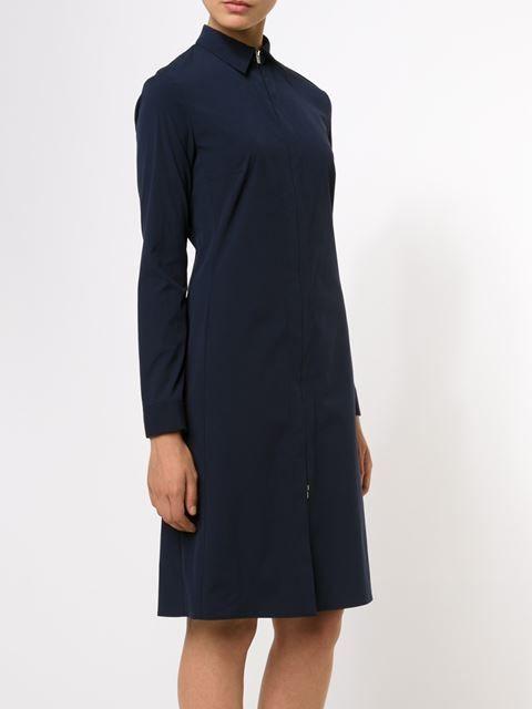 THE ROW zip front shirt dress