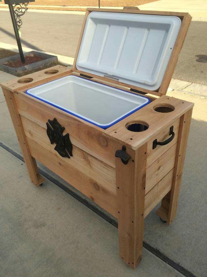 Cooler Wooden Diy Pallet Diy Wooden Cooler