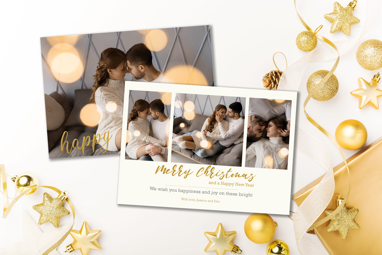 Photo Christmas Card Template Merry Christmas Script Font Etsy Christmas Photo Cards Christmas Card Template Christmas Photo Card Template