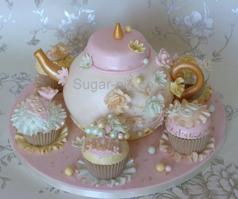 Vintage Teapot cake ~ lovely!