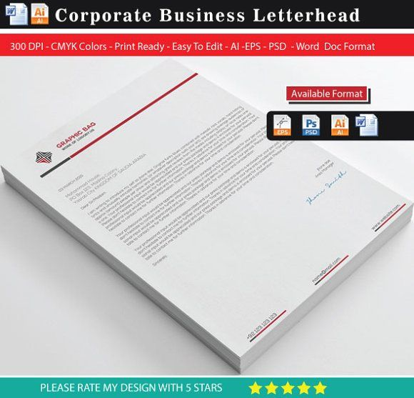 Letterhead Word Stationery templates and Template - stationery for word documents