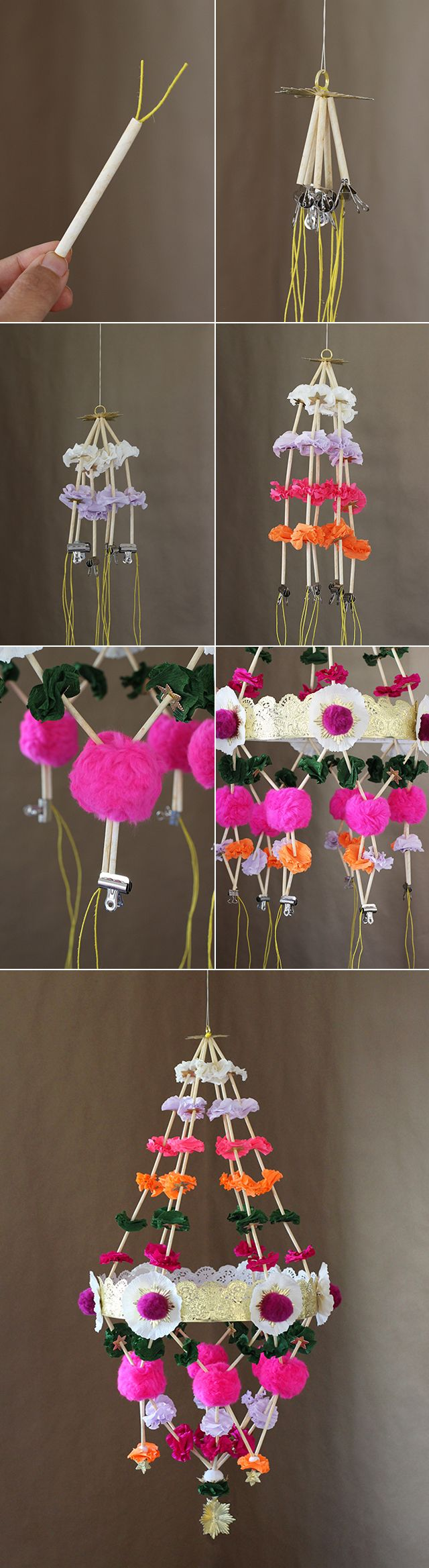 DIY Paper chandeliers, or pajaki, are a traditional Polish folk ... for Paper Chandelier Craft  26bof