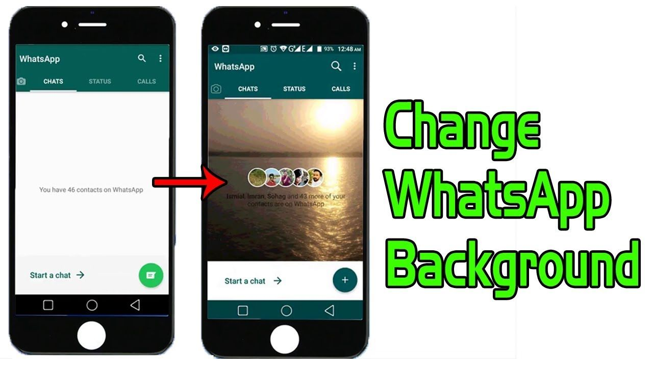 How to change WhatsApp Home Screen Background Use your