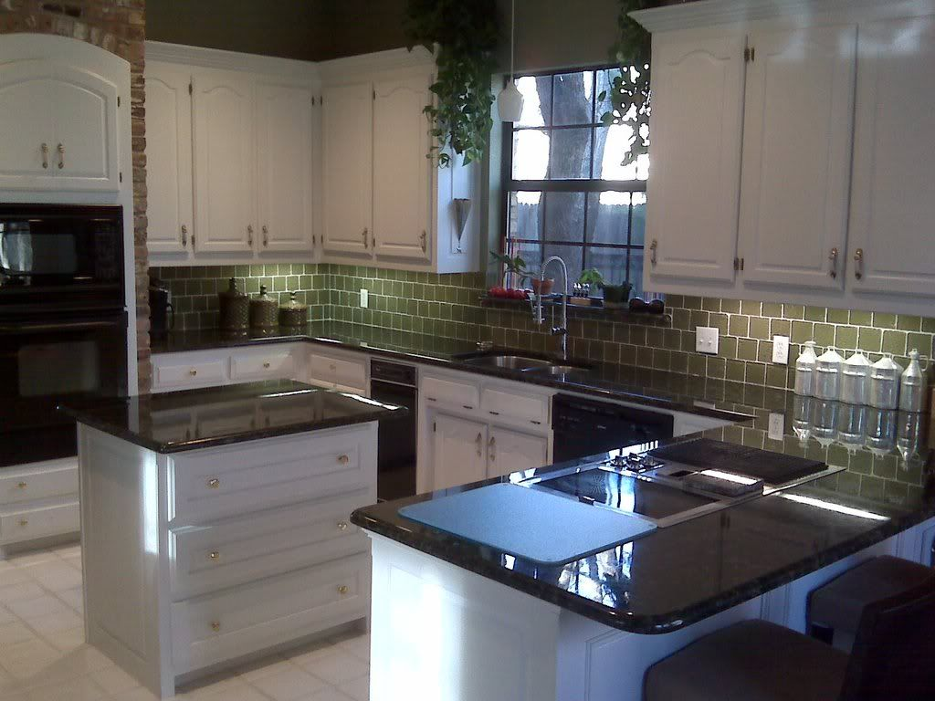 Butterfly Green Granite Countertops Pictures Kitchen Renovation Stage One That 70s House House