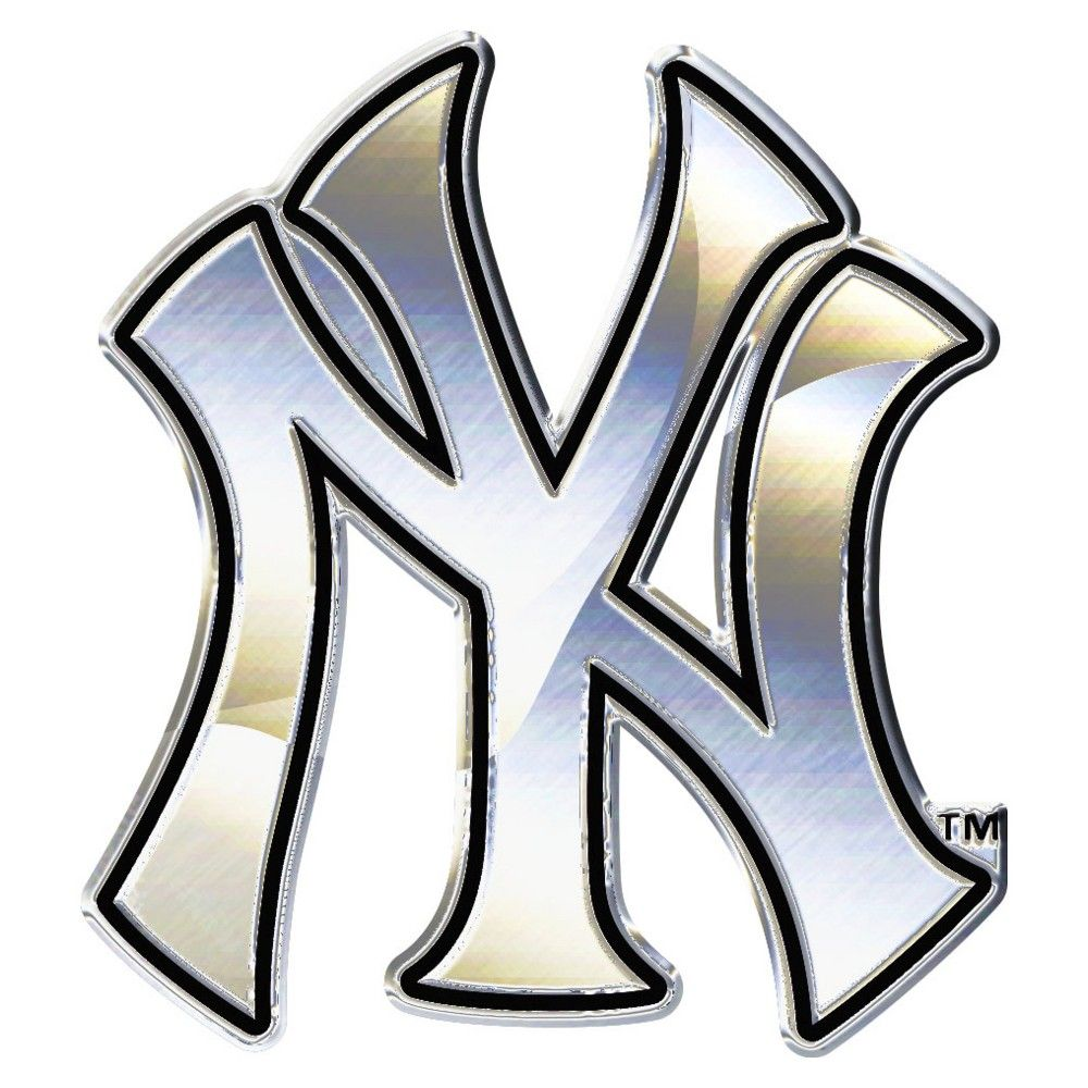 Mlb New York Yankees Chrome Auto Emblem New York Yankees Logo Yankees Logo New York Yankees