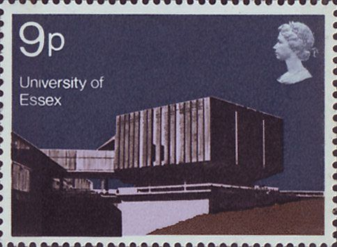 Modern University Buildings 9p Stamp (1971) Hexagon Restaurant, Essex University