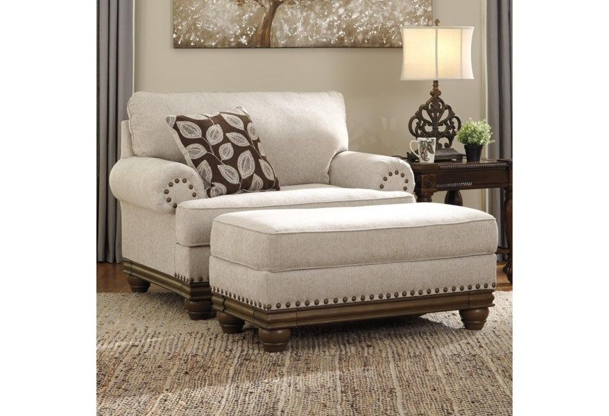 Harleson Transitional Chair And A Half Ottoman By Benchcraft At Virginia Furniture Market In 2020 Chair And A Half Couch And Loveseat Set Furniture