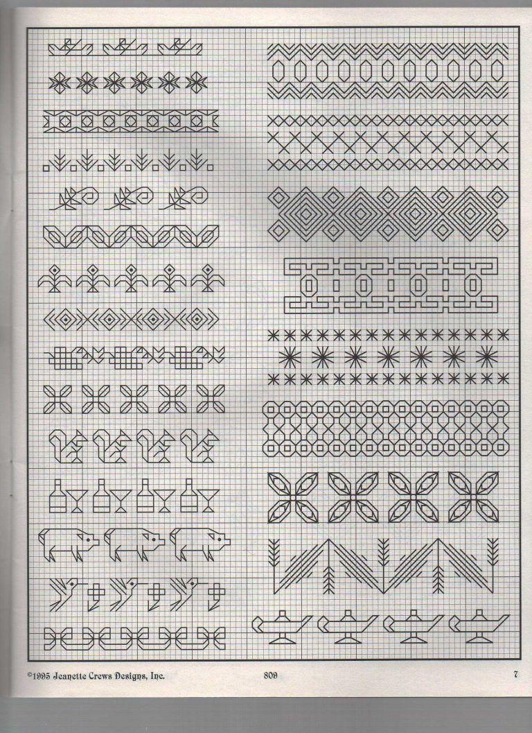 Blackwork cross stitch charts free 35
