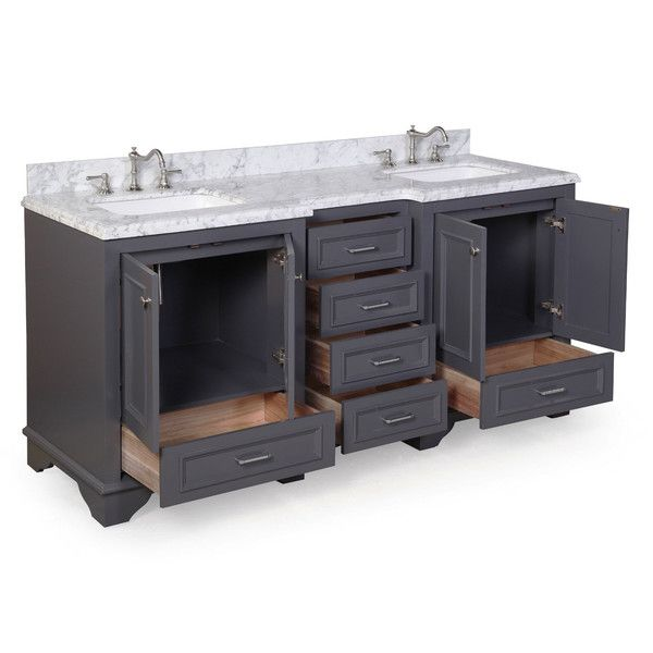 Nantucket 72 double bathroom vanity set in 2018 bob for Bobs furniture bathroom vanity