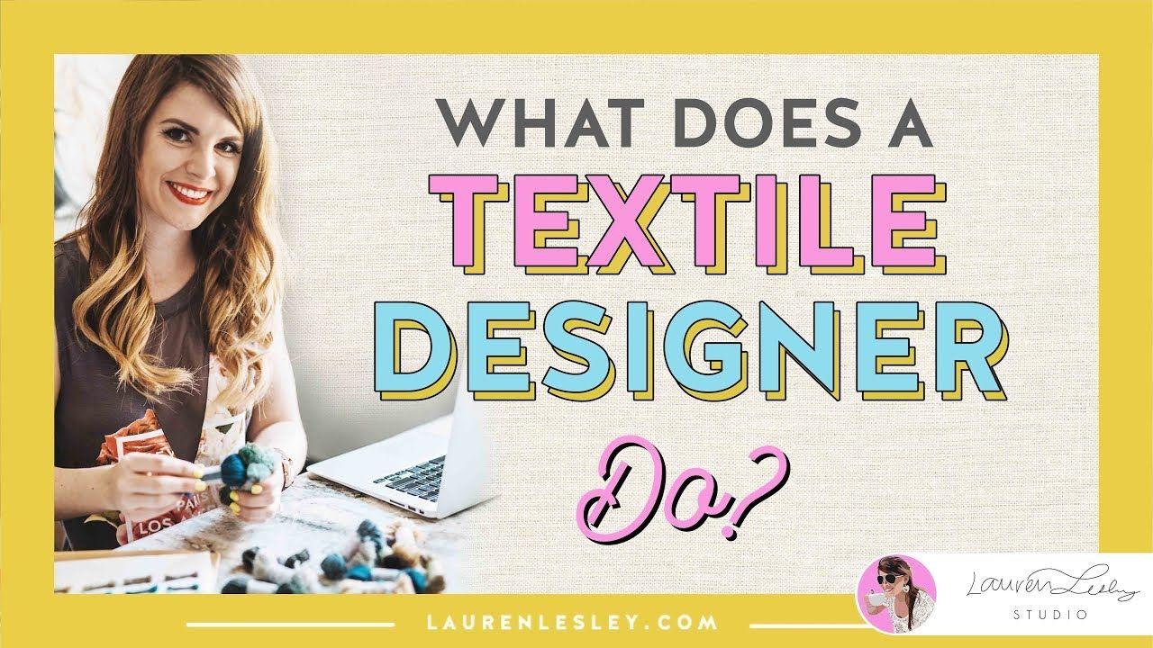 Textile Design Jobs What Does A Fashion Designer Or Textile Designer Do Have You Ever Wondered What Does A F Textile Design Jobs Design Jobs Textile Design