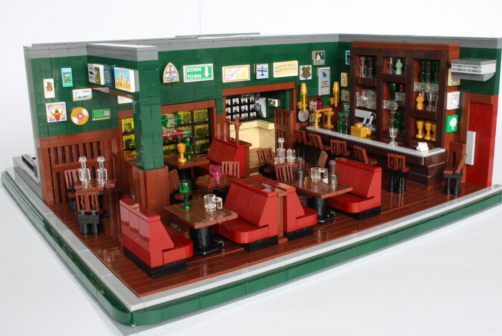 McLaren's Pub Lego furniture, Lego pictures, Lego design