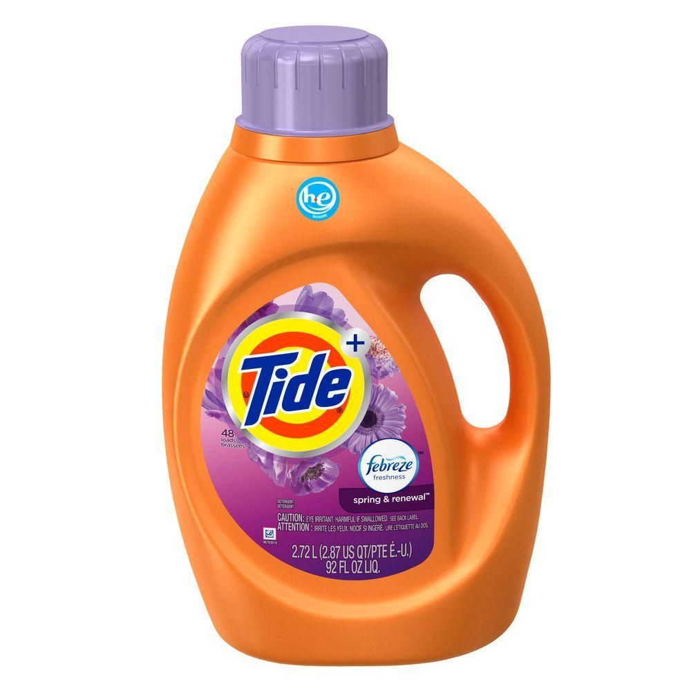 Tide 92 Oz Spring And Renewal He Liquid Laundry Detergent With