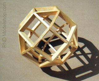 Wood Rhombicuboctahedron Model by ~RND Modelshop, via Flickr