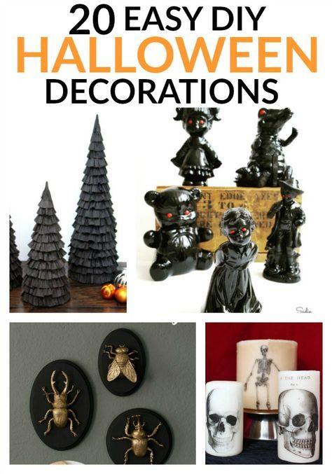 20 Easy DIY Halloween Decorations Halloween Pinterest