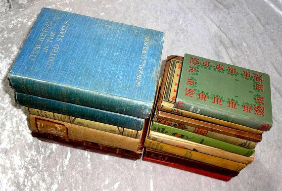 Big Vintage 15-Book Fiction / Non Fiction Sale Lot, Victorian Antique Literary Drama Poetry, 1899-1935 Literature Literary, OakwoodView, $60.00