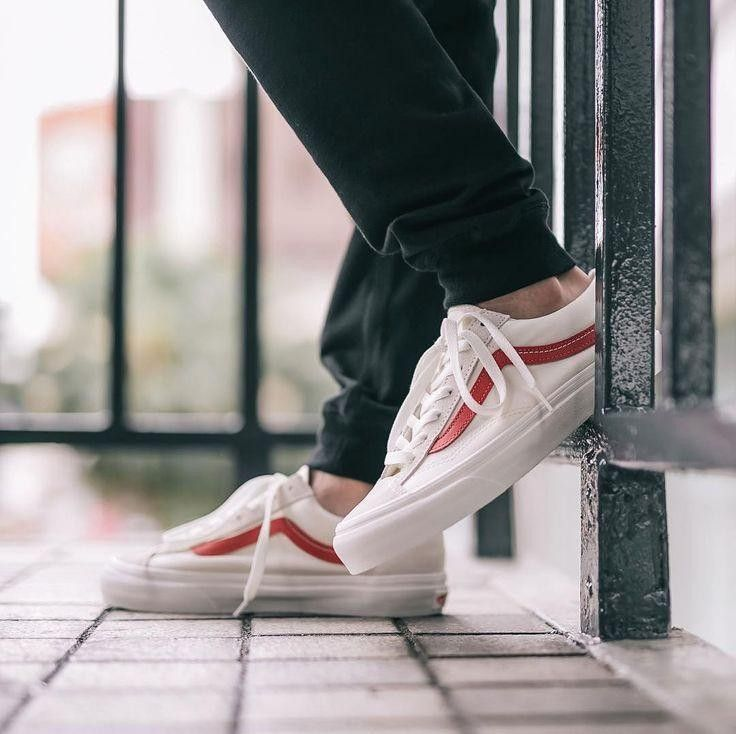 vans old skool 36 white red