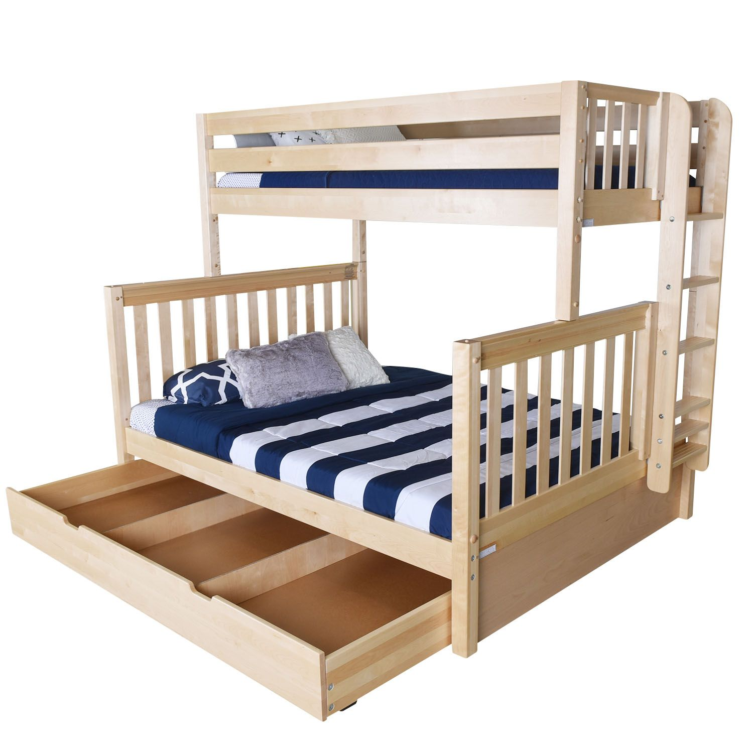 The Maxtrix Xl Twin Over Queen Bunk Bed Has All Your Storage Needs