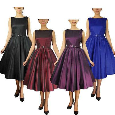 Rockabilly Pinup Vintage Retro Swing Prom 50's Dance Retro Dress Plus Sizes 8 28 | eBay