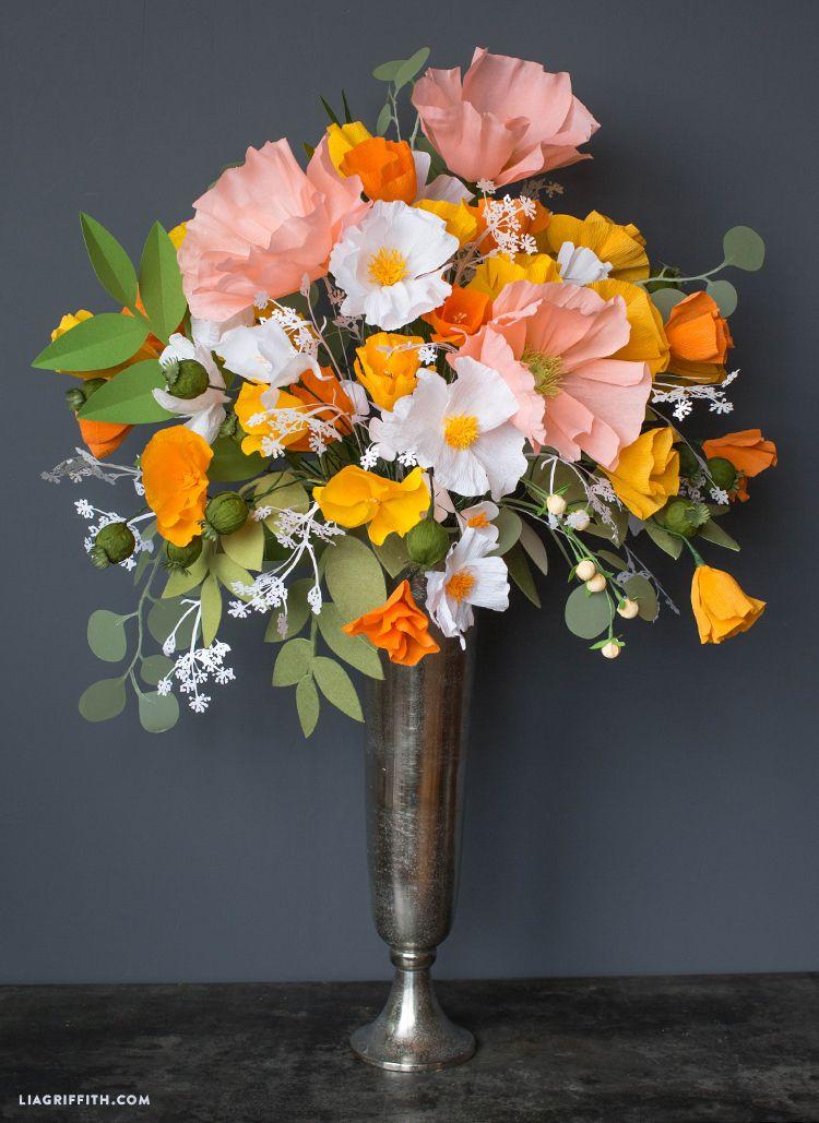 Giant Paper Flower Bouquets for Cricut | Flower bouquets, Cricut and ...