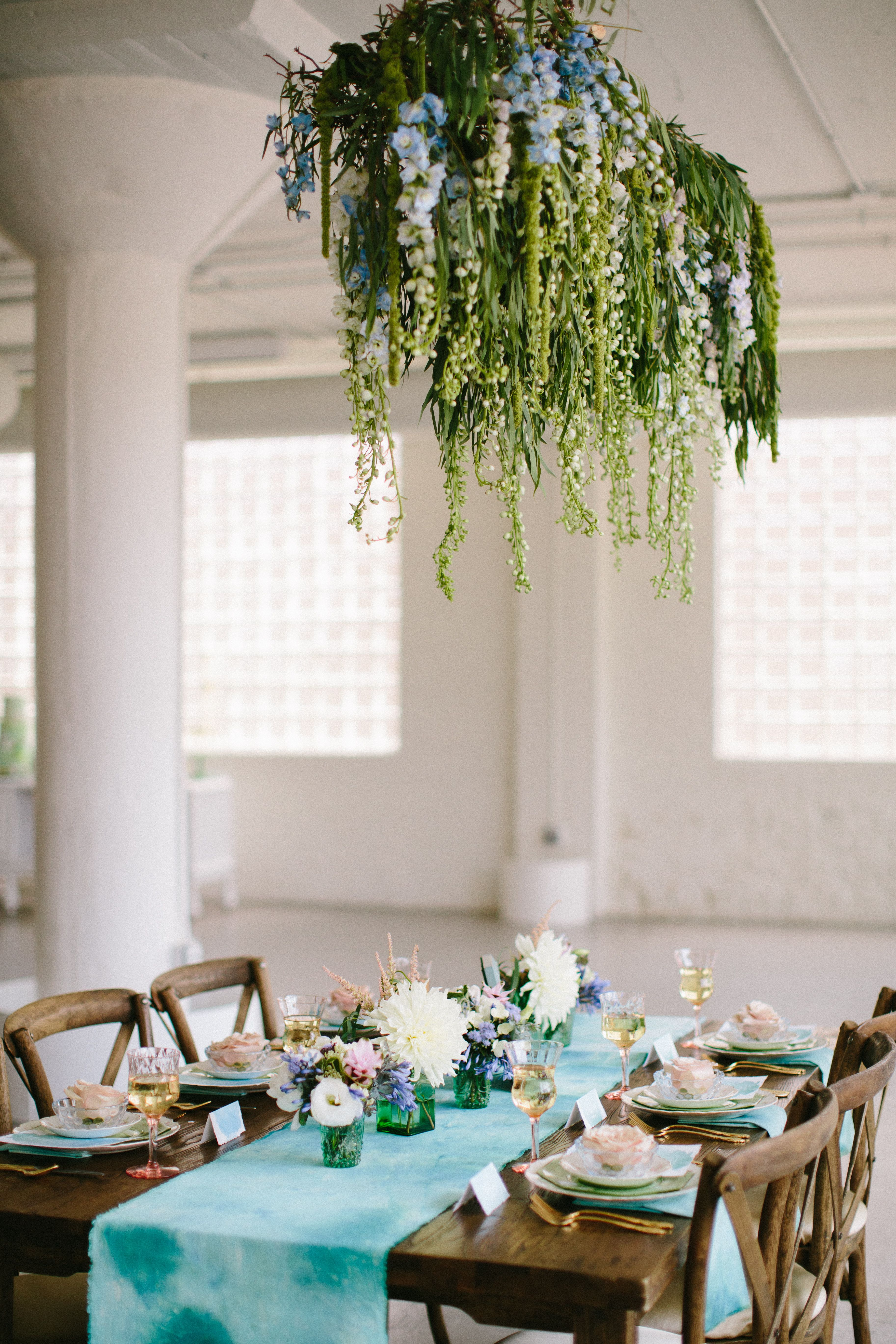 Suspended florals for weddings suspended floral arrangements - Suspended Floral Arrangement Photo By Katie Kett Photography