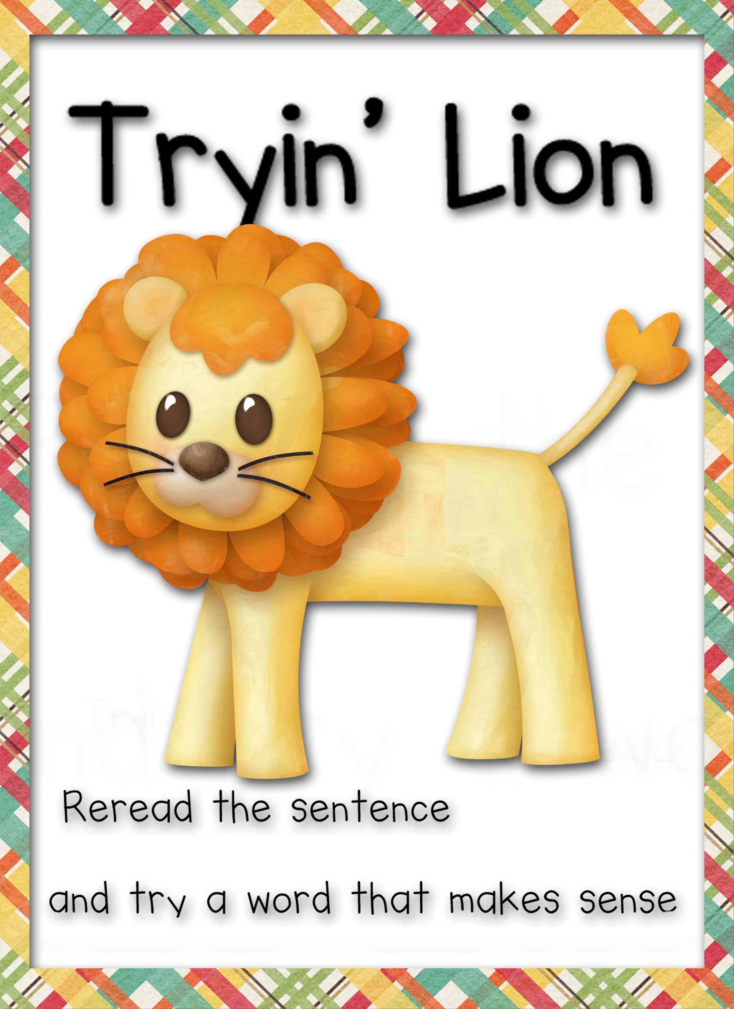 Tryin' Lion Reading Strategy