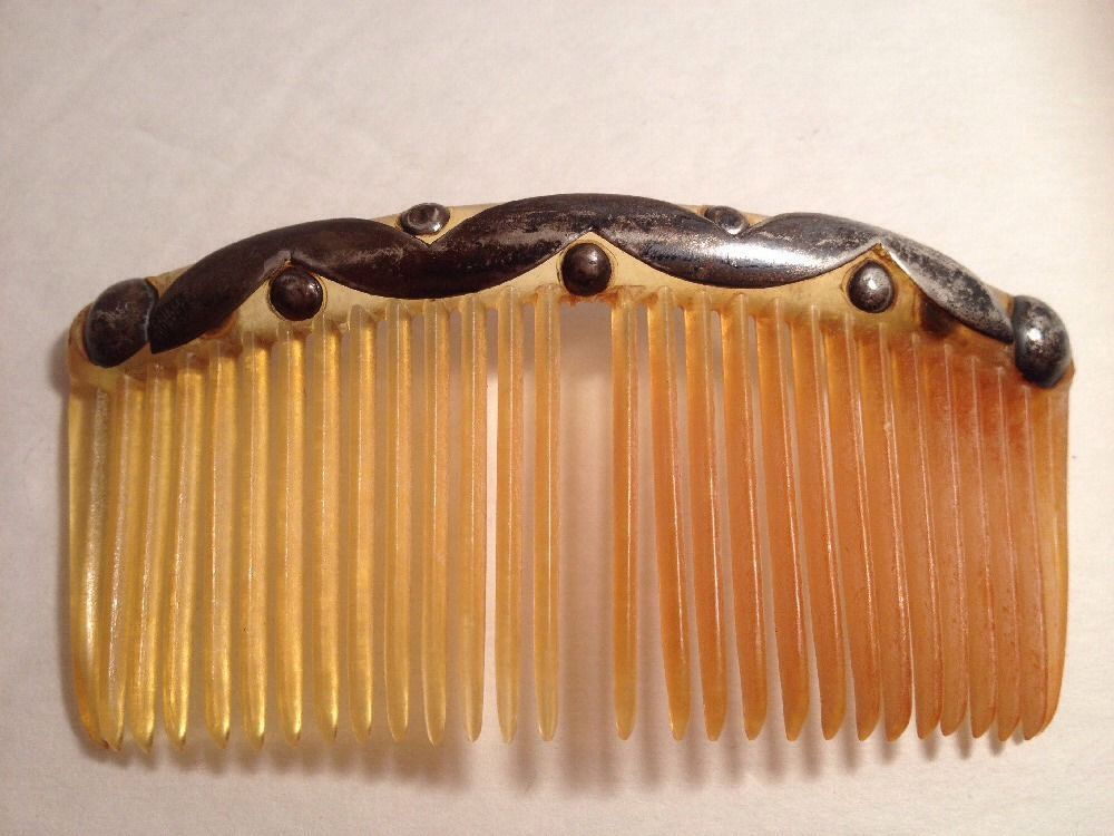 Vintage Antique Large Sterling Silver Swirls Hair Comb Jewelry Mexico | eBay
