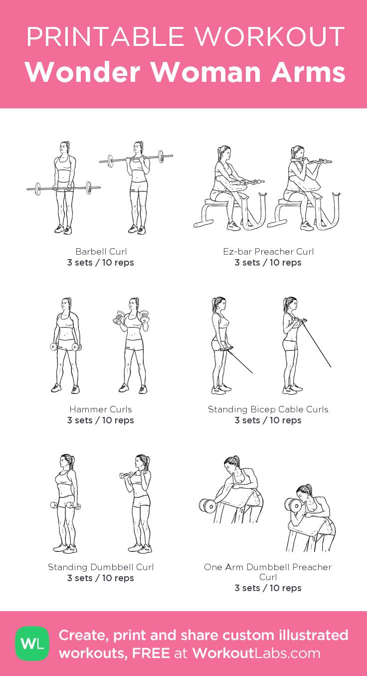 Arm Workouts Women: Wonder Woman Arms: My Custom Printable Workout By