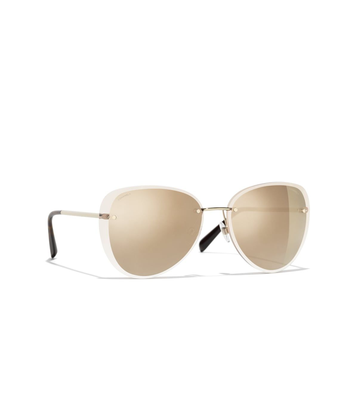 bf0c3a2aa Sunglasses CHANEL : Pilot Sunglasses, metal, gold on the CHANEL official  website