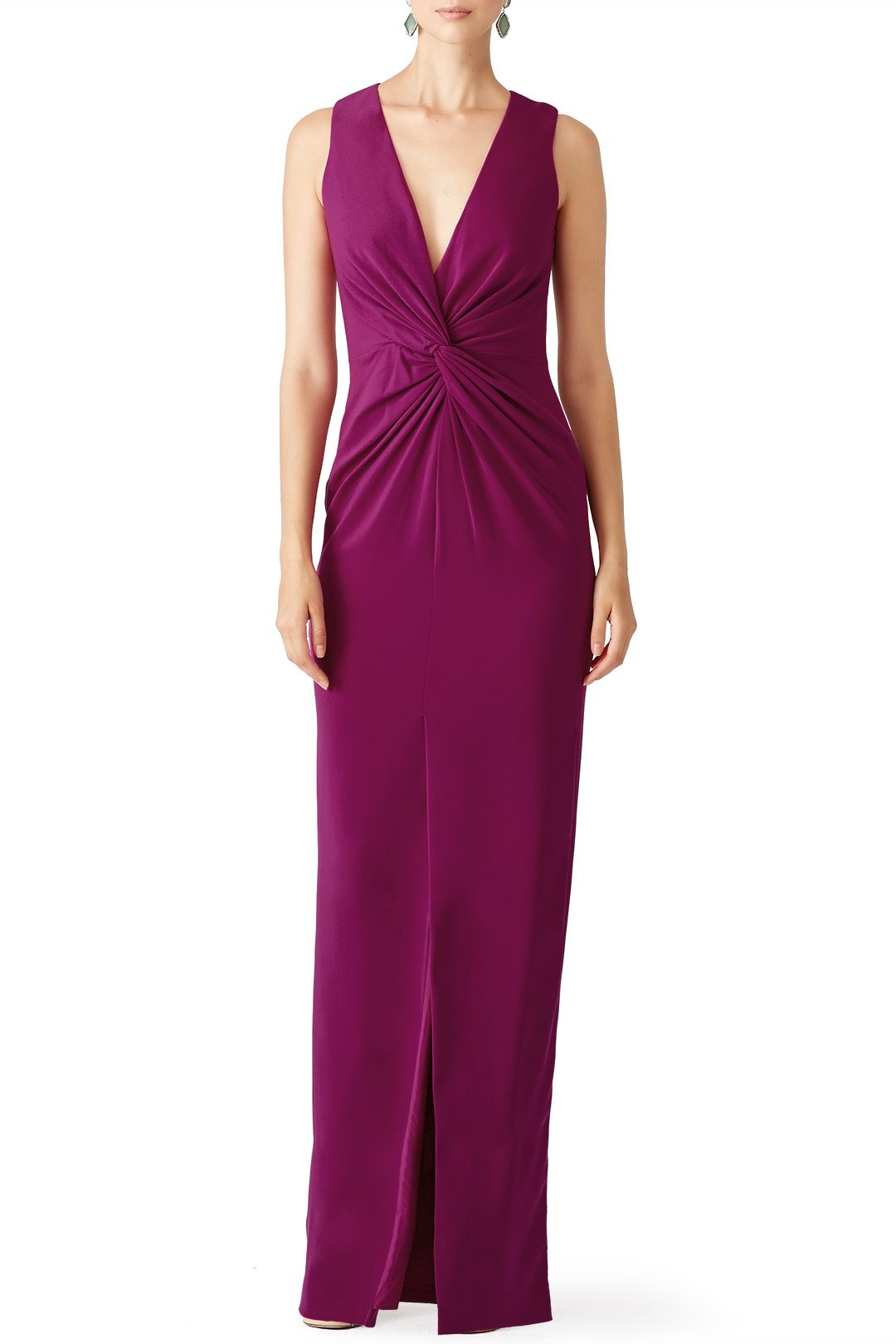 Badgley Mischka Orchid Twist Front Gown | Boo ball | Pinterest ...