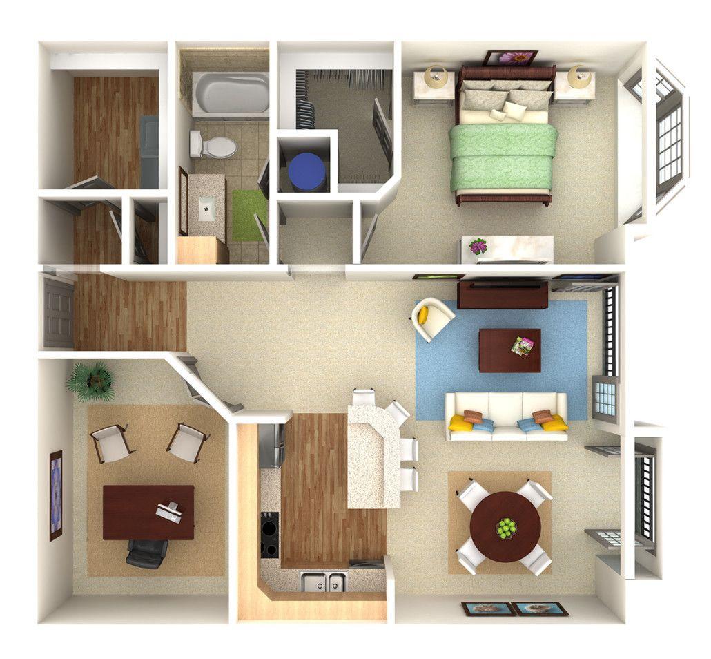 Apartmentcondo overhead 3D rendering preVision 3D LLC 3D