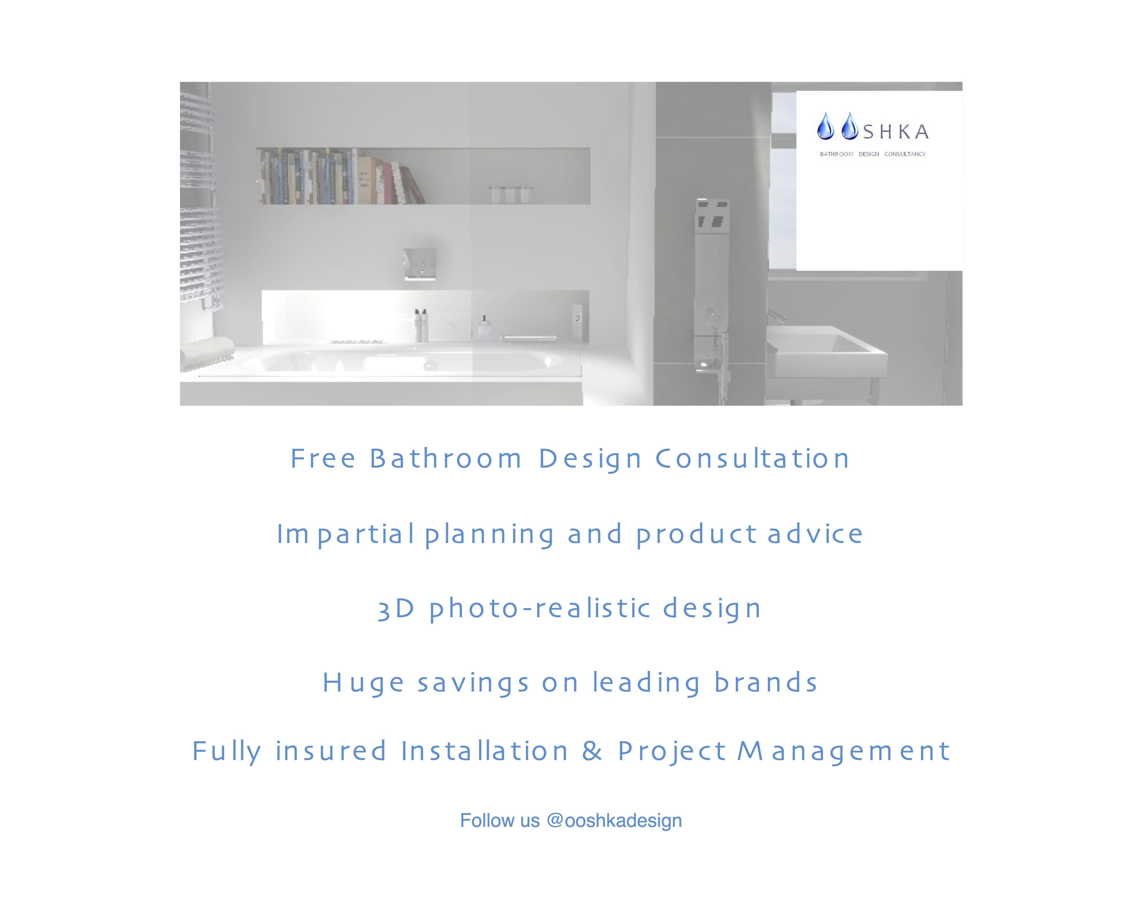Bathroom Design Book - Book your free design consultation at www ooshka co uk