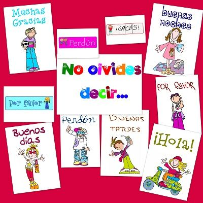 Recursos Para El Aula Normas De Cortesia Escuela En La Nube Decoracion De Aulas Juegos De Lectoescritura Aula