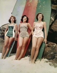 surf girls ... I L.O.V.E. these vintage beach images from @vintage_beach! And how fun that she gives a print away each week, just pin it to win it!