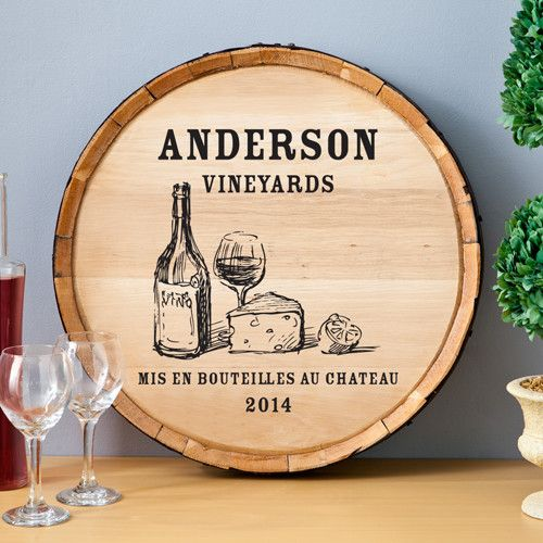 Found it at Wayfair - Personalized Gift Wine Barrel Home Décor Sign ...