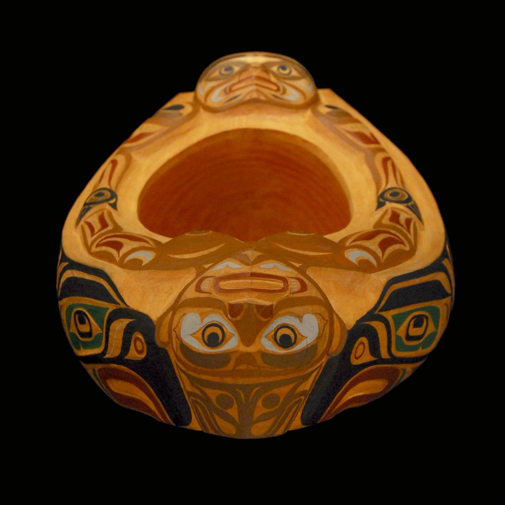 Bowl by Mervyn Child, Kwagiulth Pacific Northwest Coast First Nations Artist