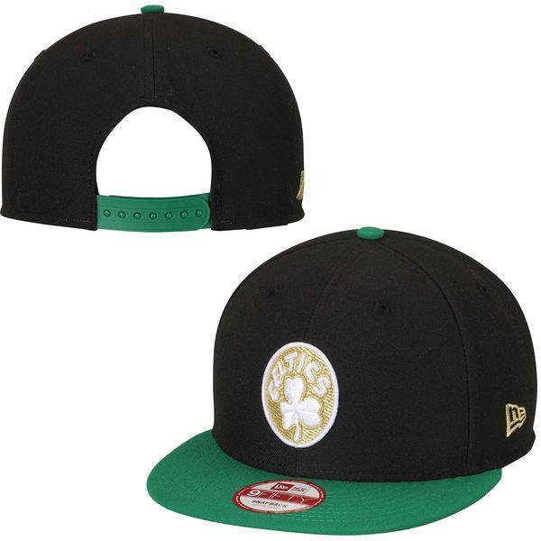 b2a93c114a4 Men s Boston Celtics New Era Black Hardwood Classics Team Hasher 9FIFTY  Snapback Adjustable Hat