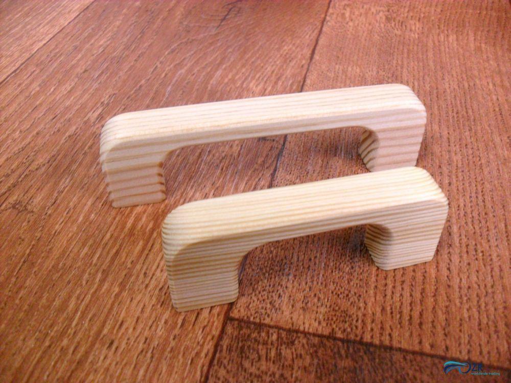 Details zu Möbelgriff Holz Möbelgriffe 64-96 mm Schrankgriffe Kiefer ...