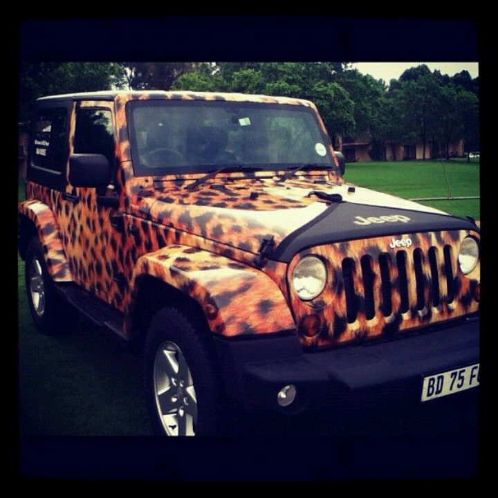 Leopard Jeep Girly Car Leopard