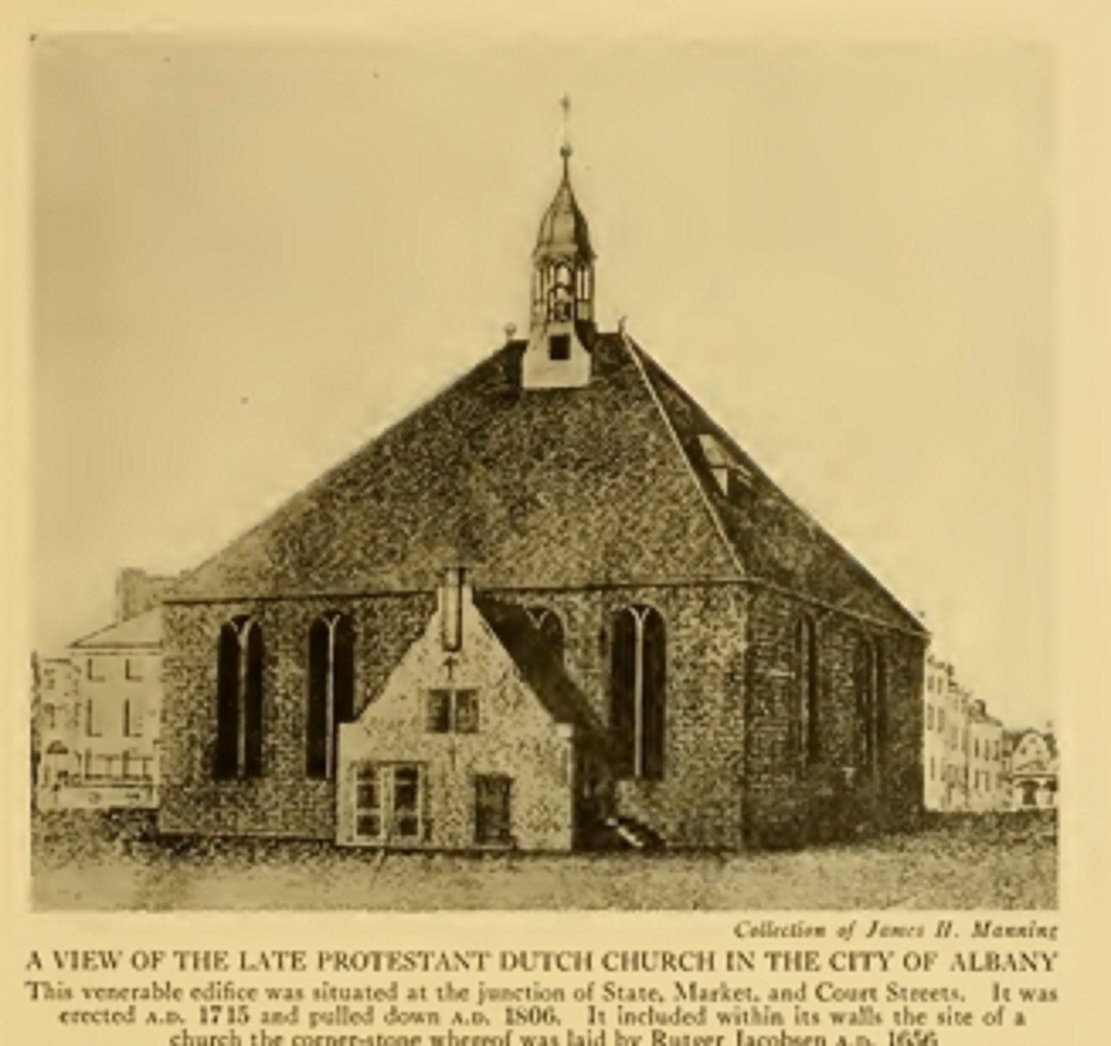 The first dutch chirch in albany NY .. at state,. market