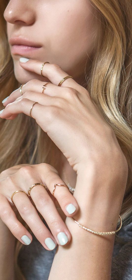 Minimalist ring - Dainty ring - Tiny ring - Stacking ring ...