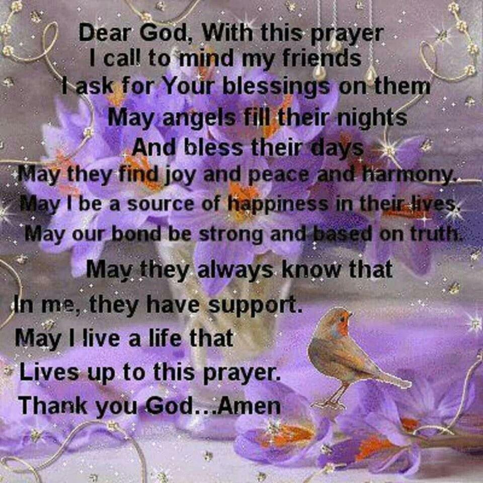 prayer for friends inspirational pinterest