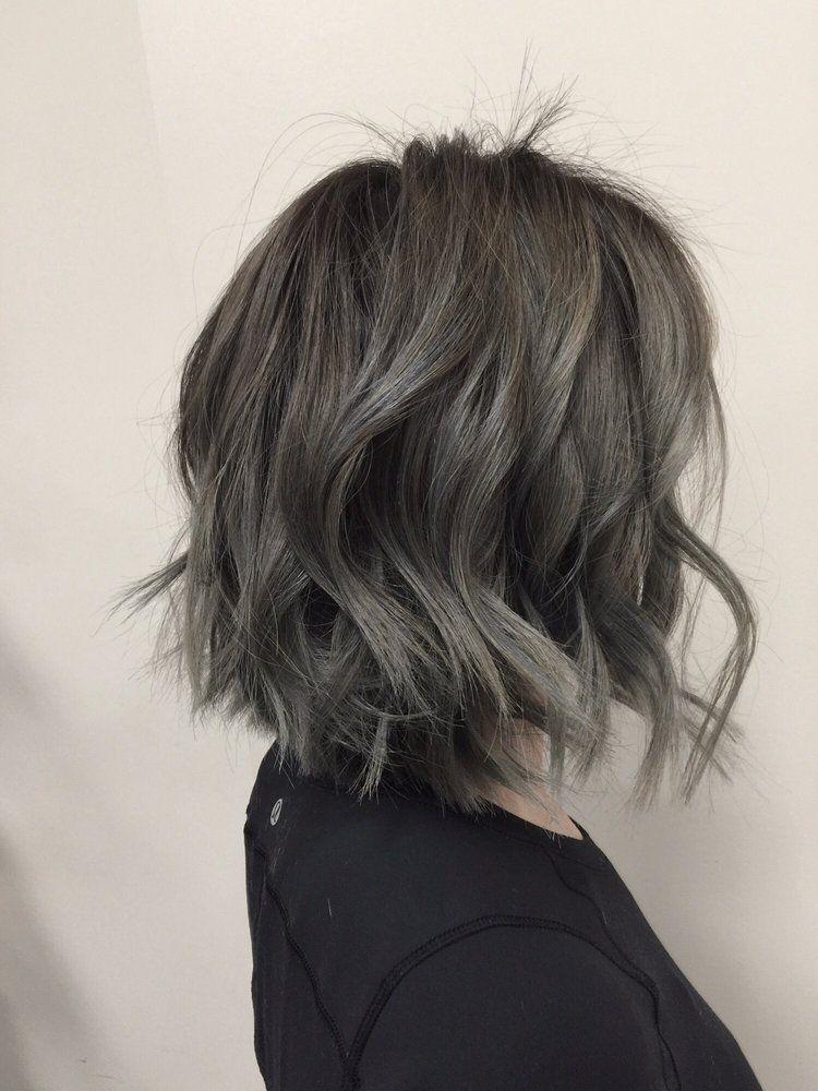 O Jpg 750 1 000 Pixels Short Hair Balayage Balayage Hair Gray Balayage